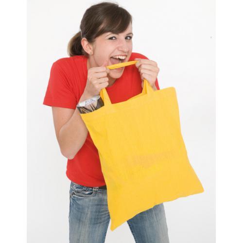 Bavlněná taška barevná krátká držadla