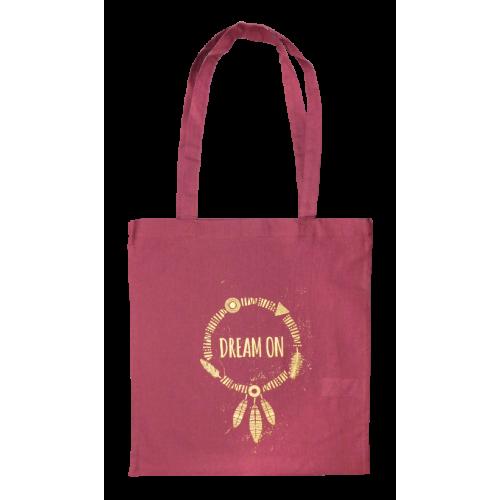 Taška bavlněná barevná s vlastním jednobarevným potiskem Pink